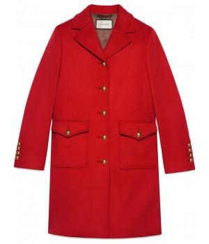 пальто с логотипом GG