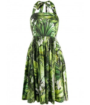 платье с вырезом халтер и...